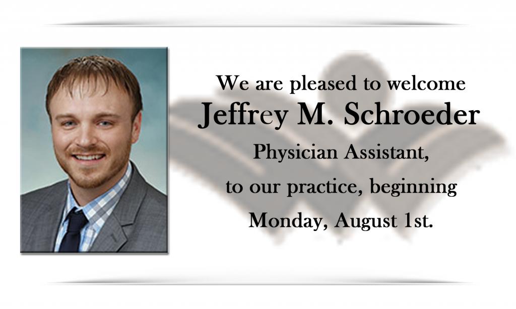 Welcome Jeff Schroeder